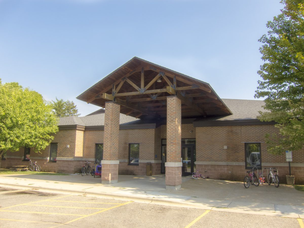 Exterior of Eagle Heights Community Center.