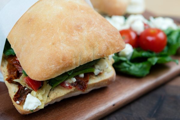 sandwich on ciabatta roll