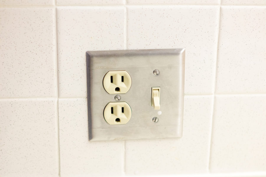 Outlet and switch in University Houses.