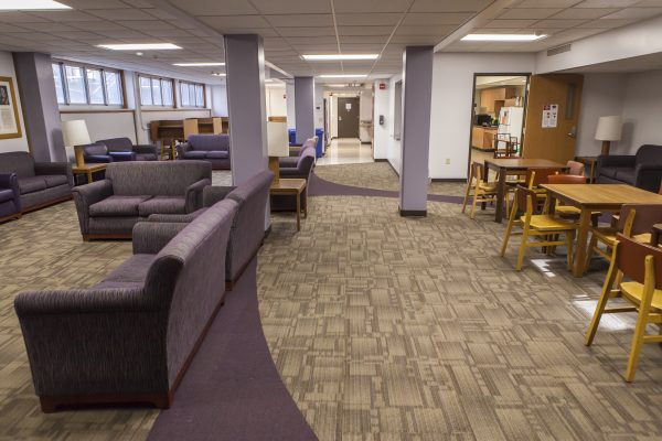 Study room/den in Cole Hall.