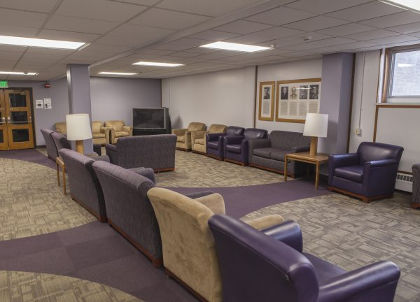 2nd view of den/lounge in Cole Hall.