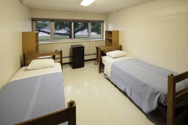 Another guest accommodations set-up in Cole Hall.
