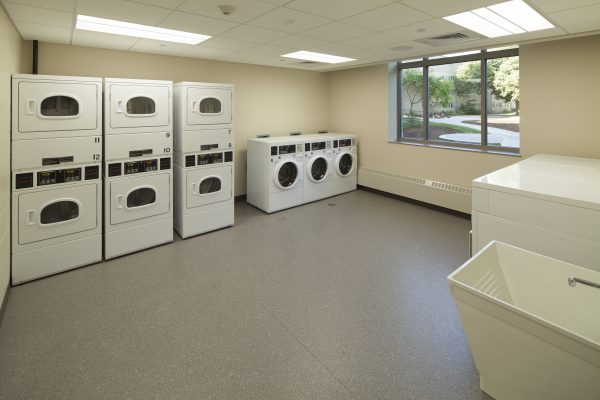 Laundry room in Leopold Hall.
