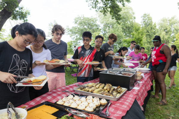 A youth cookout on Lake Mendota