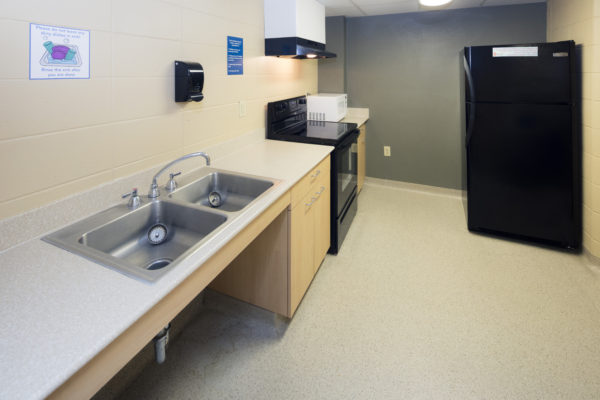 Kitchen in Chadbourne Hall.