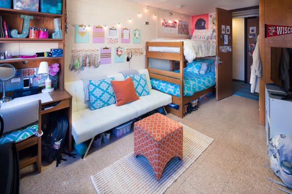 Best Room Contest finalists' room in Sellery Hall