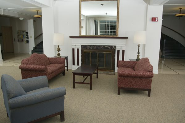 Waters Hall parlor.