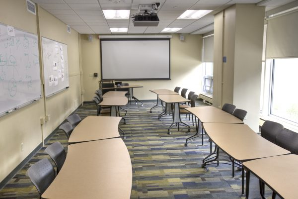 Classroom in Chadbourne Hall.