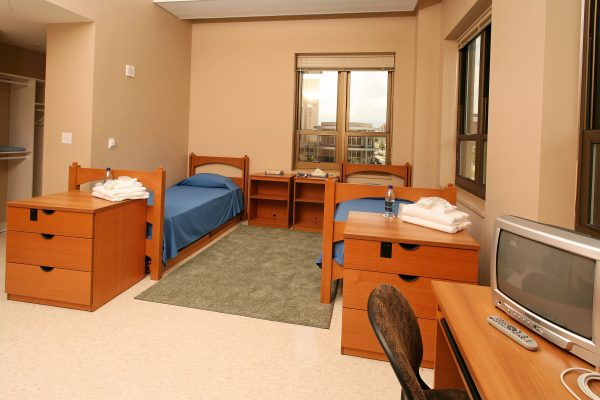 Guest accommodations in Smith Hall.