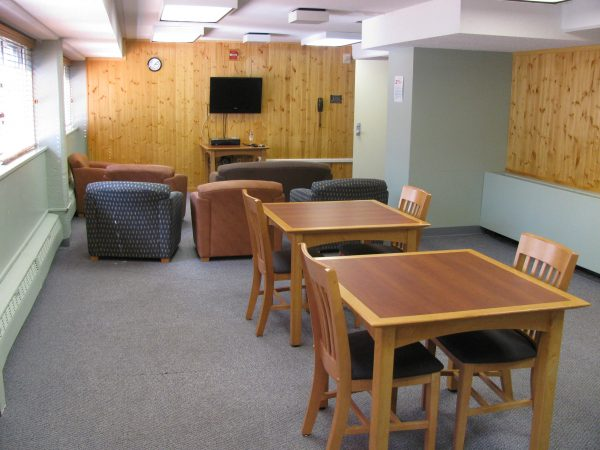 A lower level den in Phillips Hall.