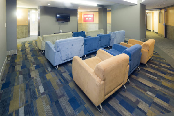 Lounge in Chadbourne Hall.