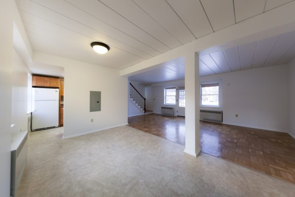 Living room in University Houses.