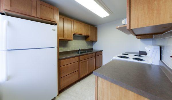 Kitchen in University Houses.