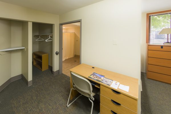 Guest accommodations in Merit Hall.