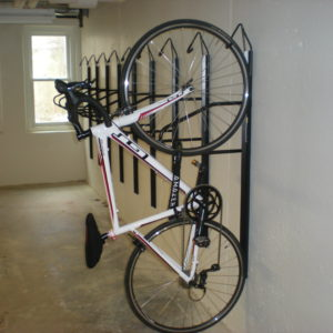 Bicycle rack in University Houses.