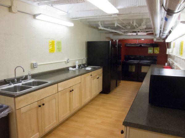 Adams Hall kitchen.