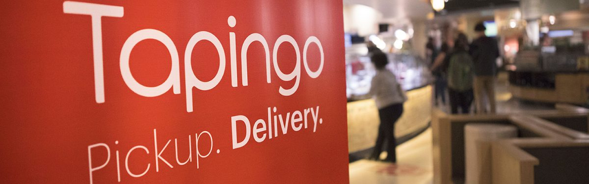 Tapingo sign in Four Lakes Market
