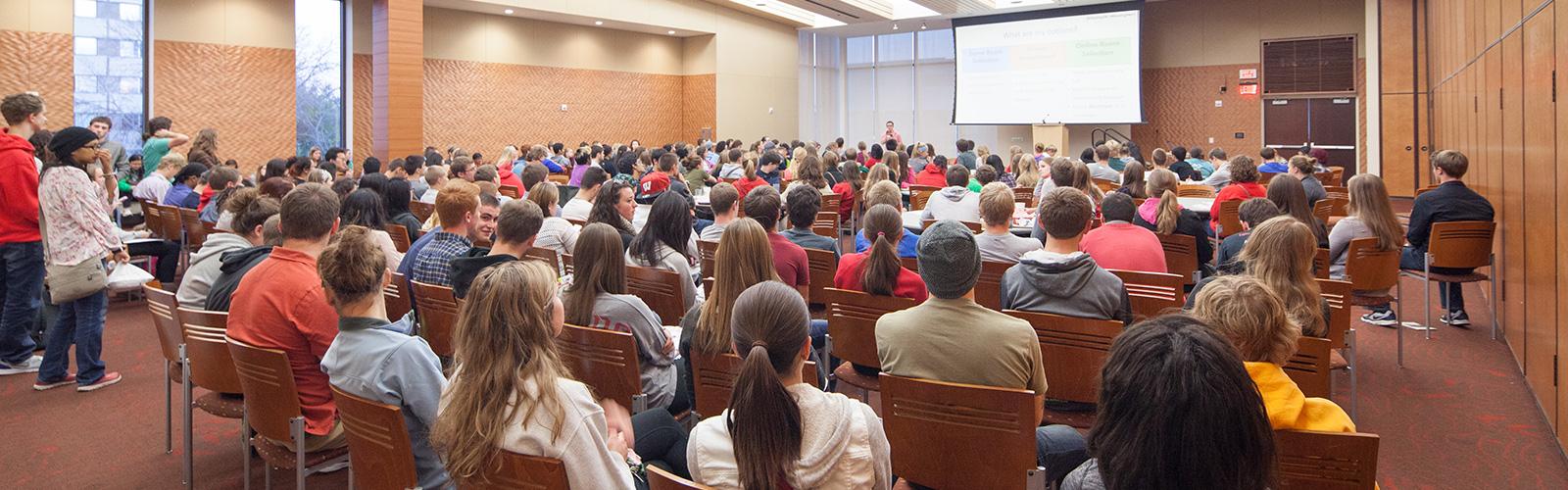 Students attending a workshop in Gordon