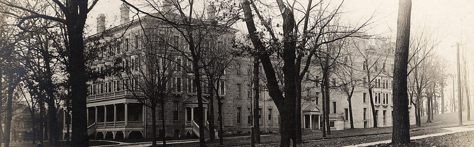 Historical photo of Ladies Hall from the late-1800s