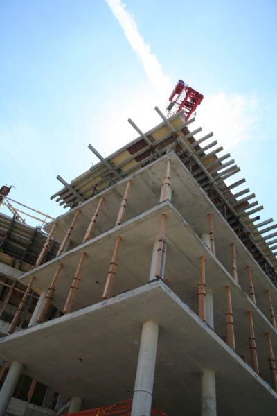 Ogg Residence Hall construction in 2006