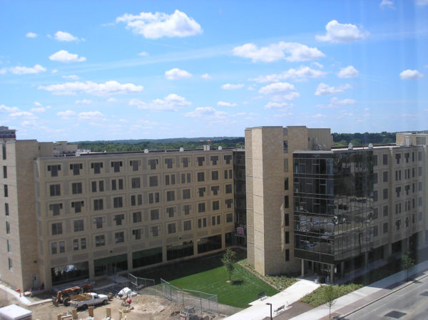 Ogg Residence Hall construction in 2007