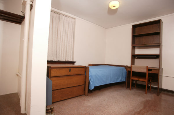 A single room in Tripp/Adams.
