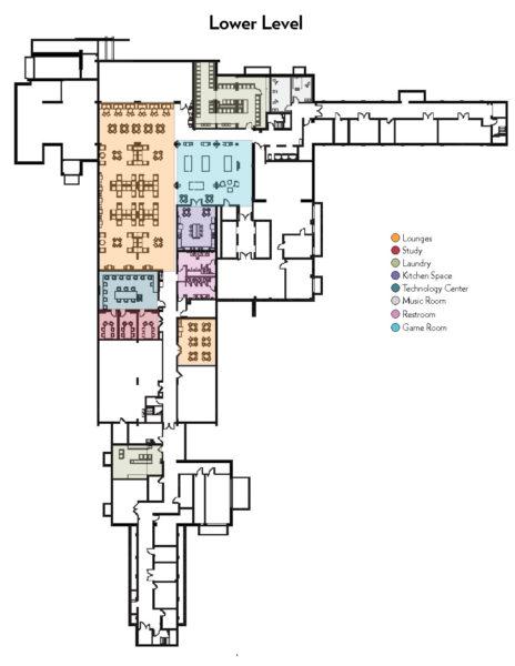 Witte lower level floor plan