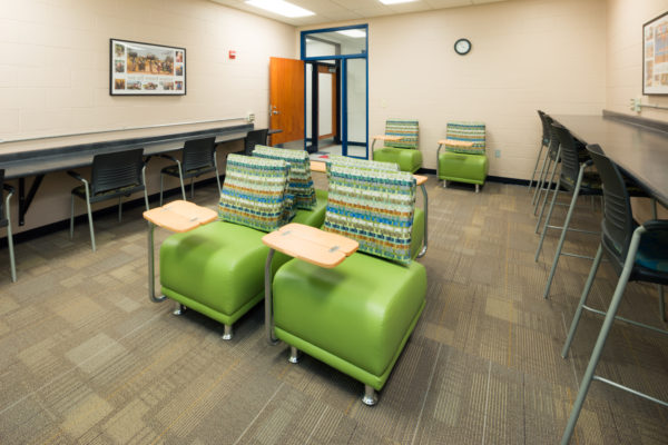 Study Room in the University Apartments Community Center.