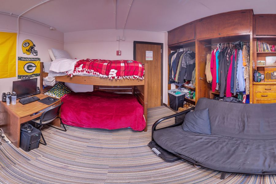 A double room in Kronshage Residence Hall in 2016