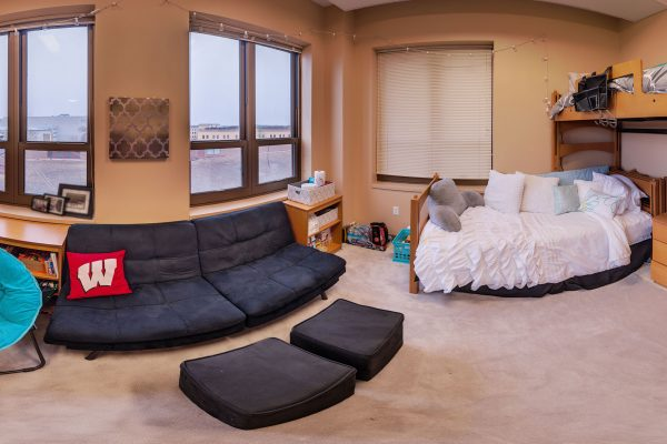 A double room in Smith Residence Hall in 2016