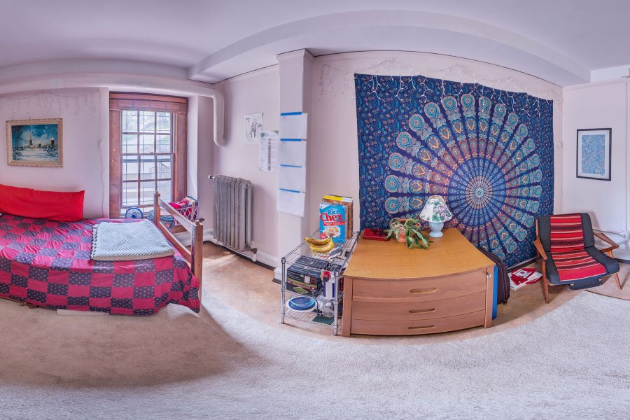 A single room in Barnard Residence Hall in 2016