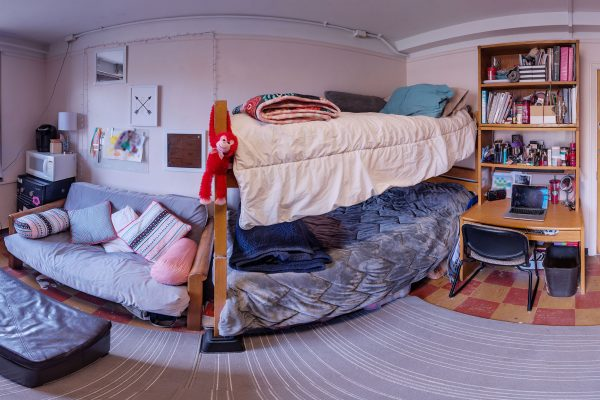 A double room in Slichter Residence Hall in 2016