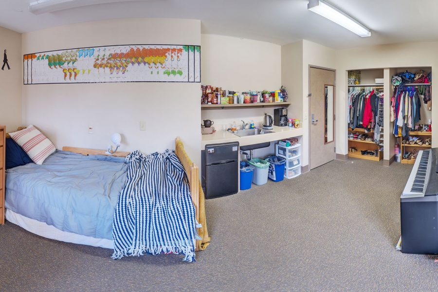 A double room in Merit Residence Hall in 2016