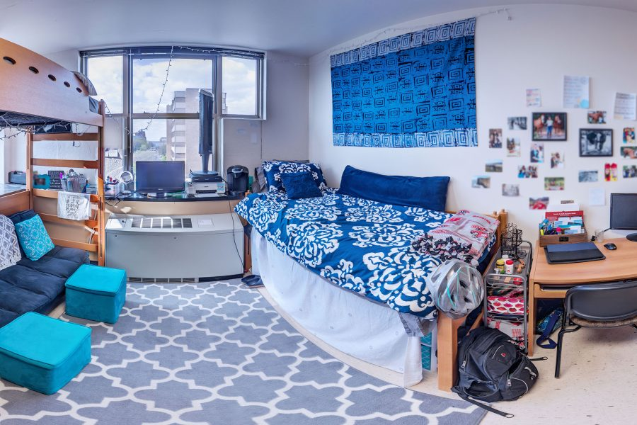A double room in Ogg Residence Hall in 2016