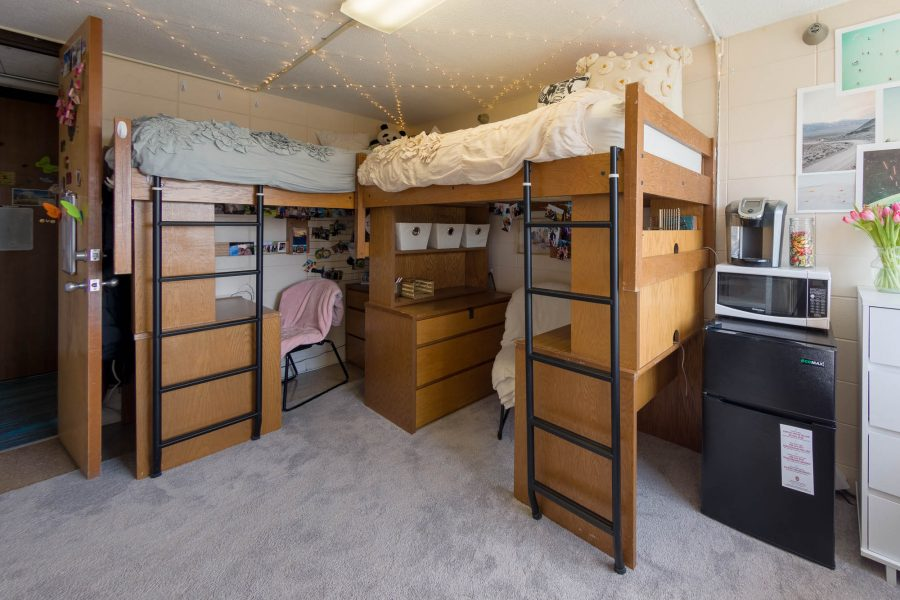 A double room in Sellery Residence Hall in 2018