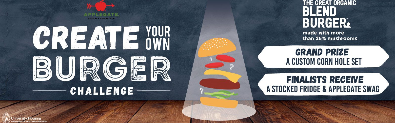 Applegate's Create Your Own Burger Challenge, enter by Nov. 22 and you could win a fridge stocked with Applegate snacks, treats & goodies.