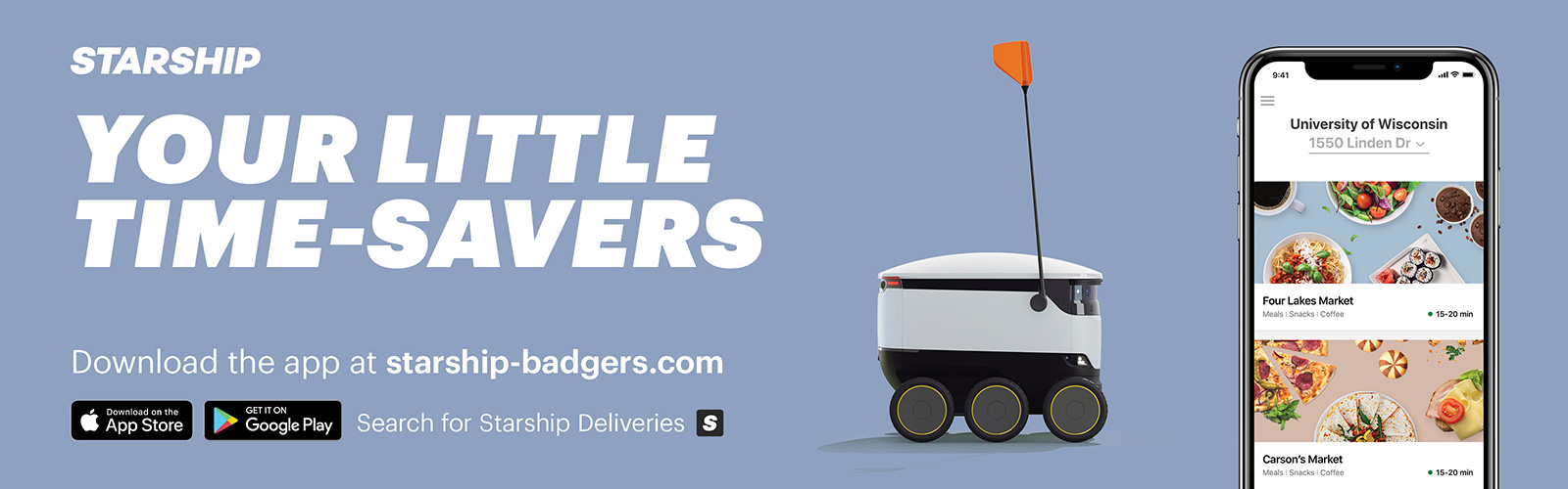 Starship Delivery Robots. Order at starship-badger.com