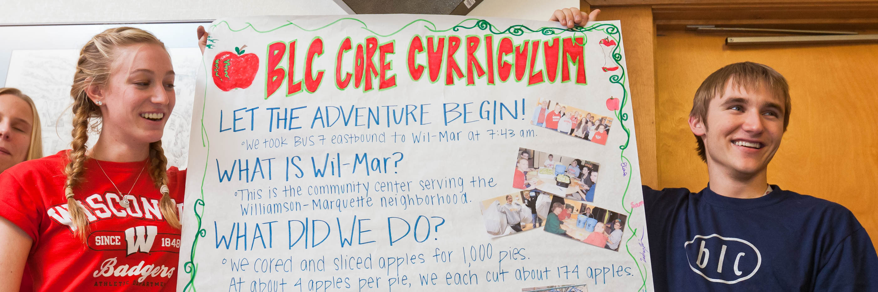 BLC residents present their core curriculum project at Roundtable