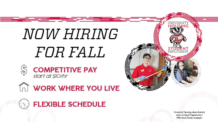 Now hiring for fall. Apply Today.