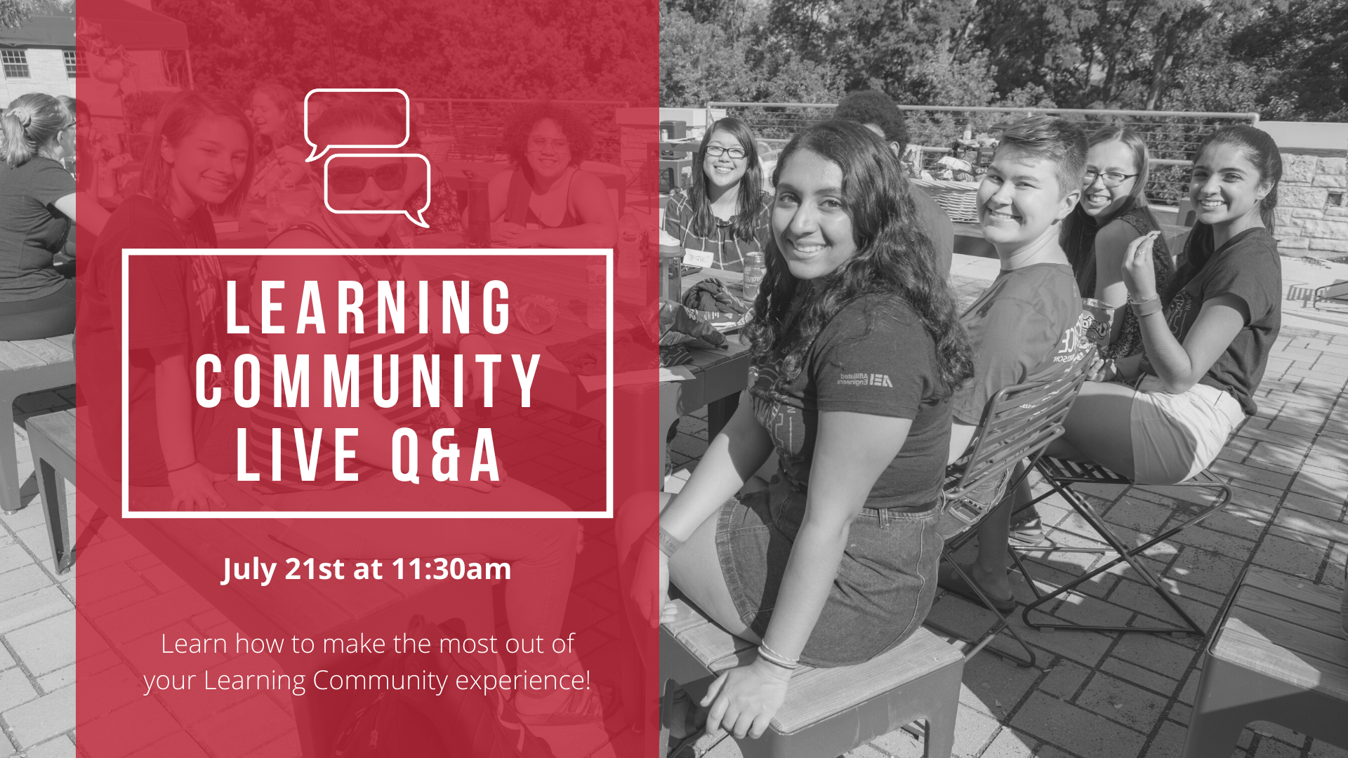 Learning Community Live Q & A, July 21st at 11:30am