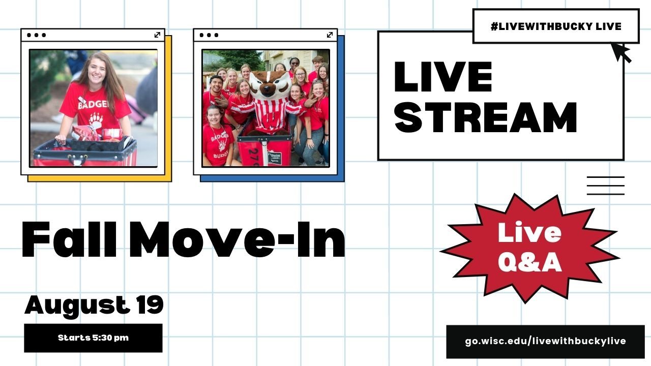 #LivewithBucky Live - 819 Fall Move-In