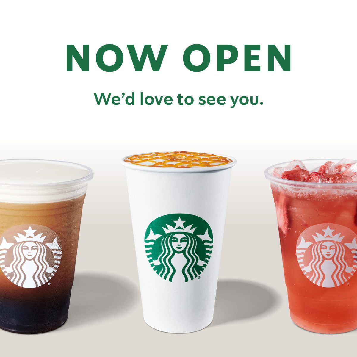 Starbucks Now Open