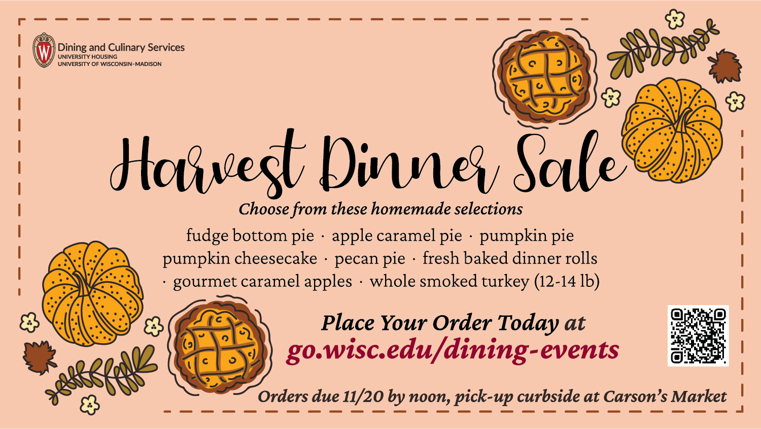 Harvest Dinner Sale, Nov. 9 -20