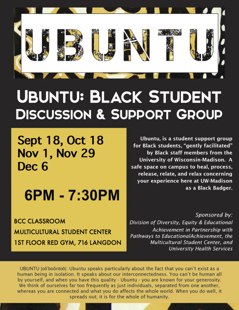 Ubuntu: Black Student Discussion & Support Group