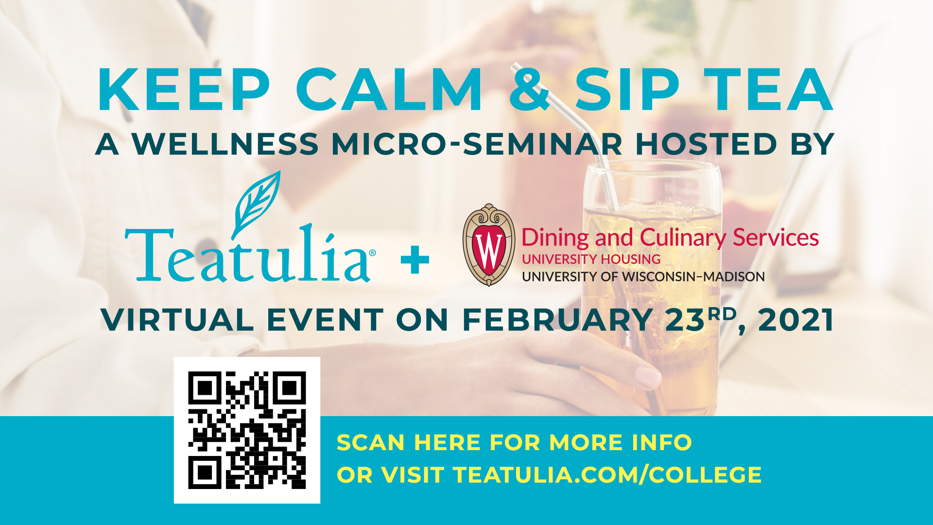 Keep Calm and Sip Tea: A wellness Micro-seminar hosted by Teatulia