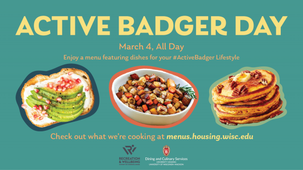 Active Badger Day Special Menu on March 4