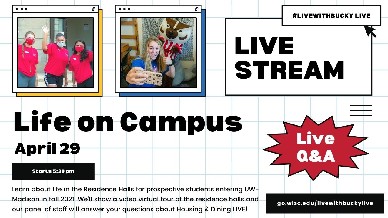 #LiveWithBucky Live - Life of Campus 4/29