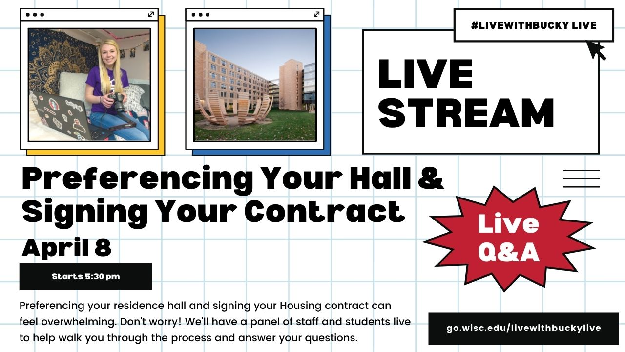 #LiveWithBucky Live: Picking Your Rooom & Signing Your Contract - 4/8