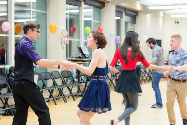 Residents dance together at the BLC Spring Fling