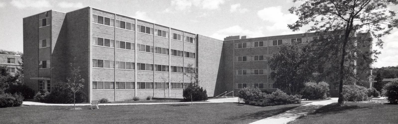 Bradley Hall exterior in 1975